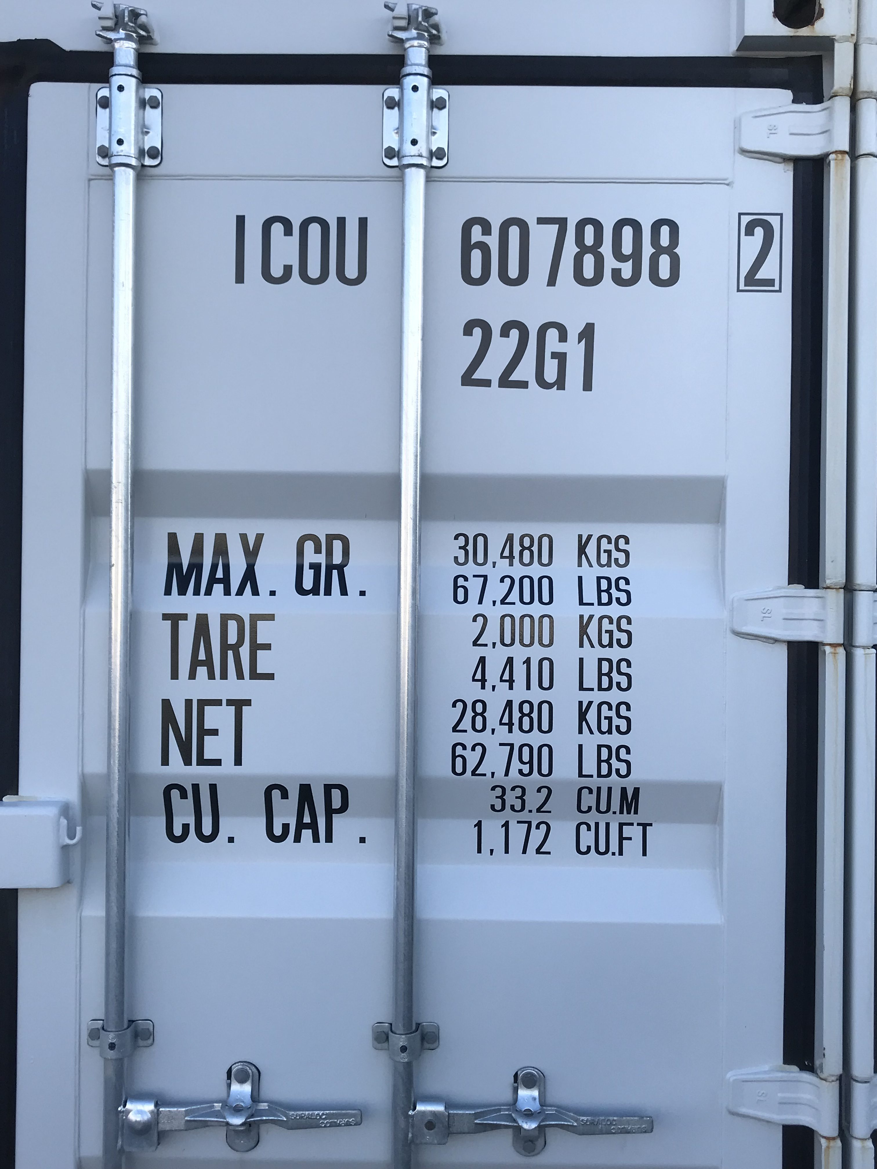Seecontainer 20ft One Way Used